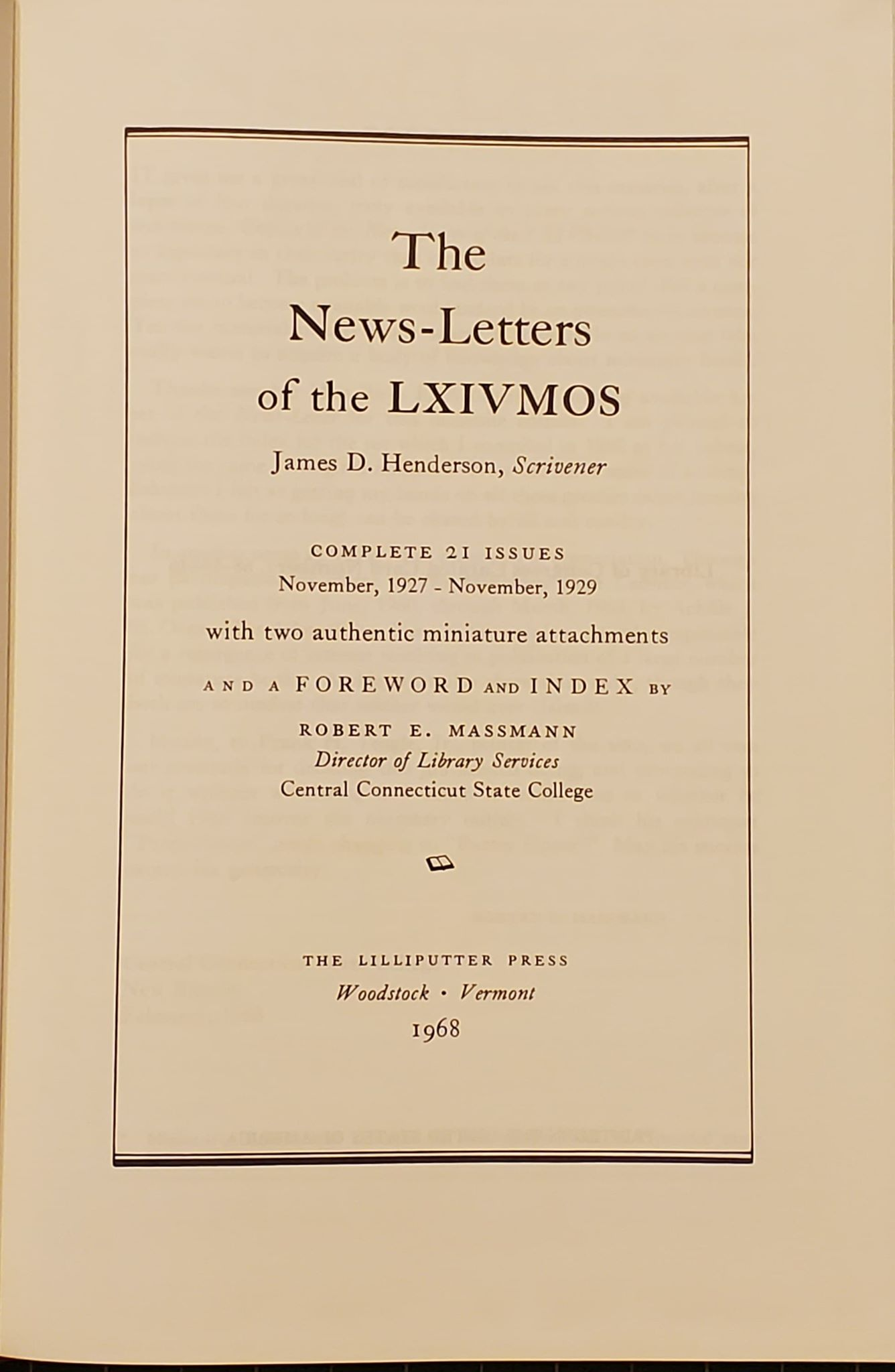 The News-Letters of the LXIVMOS